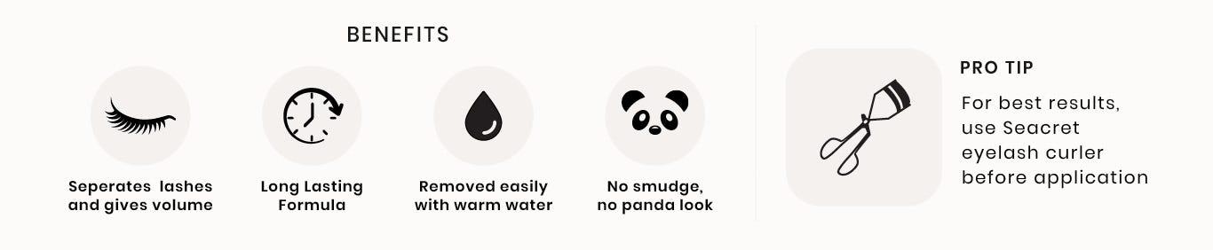 Non Smudge Mascara page icons